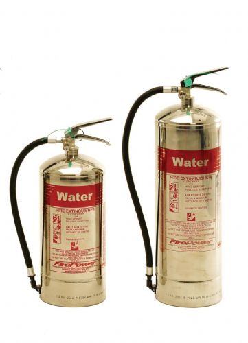 WATER Extinguisher (Stainless Steel)  'FirePower' - *various sizes*